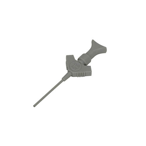 Cal Test CT3659-8 Individual pincer style SMD clip for IC test measurements, Grey, Qty 10