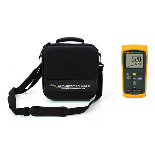 60HZ Dual-Input Digital Thermometer and Two Compartment Molded EVA Case