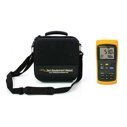 60HZ Single-Input Digital Thermometer with Data Logging and Two Compartment Molded EVA Case