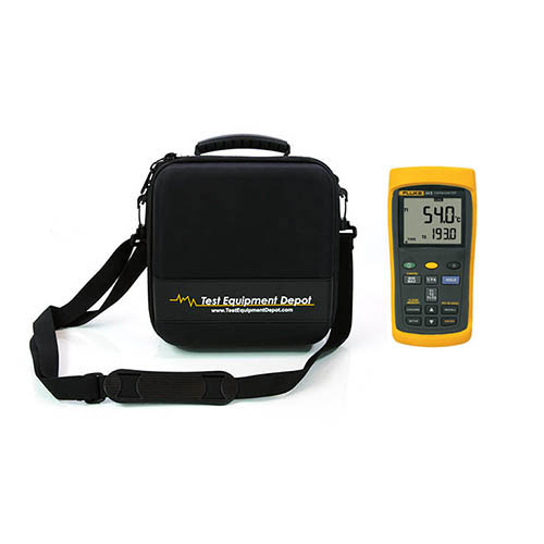 60HZ Dual-Input Digital Thermometer with Data Logging and Two Compartment Molded EVA Case