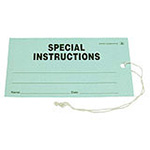 "Click here for a larger image - Desco 16104 ESD Tag, Special Instruction, 2.75"" x 5"", Pk Of 100, Green"