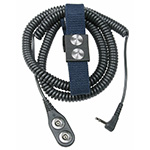 Click here for a larger image - Desco 19884 Magsnap 360 Elastic Dual Wrist Strap 6', Angle