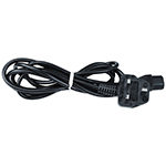 Click here for a larger image - Desco 94033 AC Power Cord, Black, 220V Euro