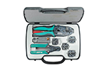 Eclipse 500-001 Tool Kit for Coaxial Crimping, with 4 Tools, Multiple Dies, and Carrying Case