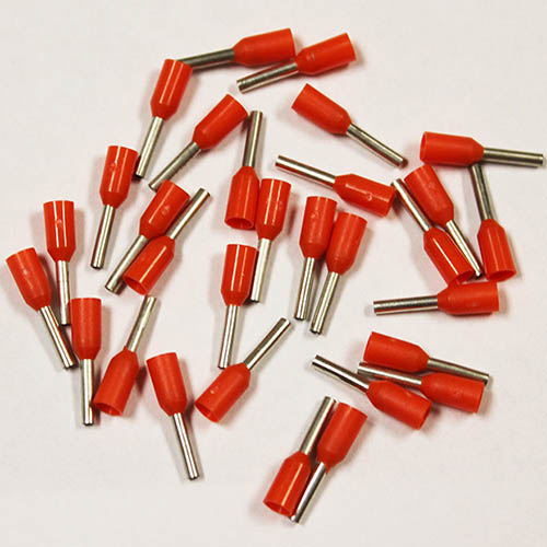 Eclipse 701-008-100 20 AWG Orange 6mm Barrel Wire Ferrules, 100 Pack, Copper with Tin Plating (Eclipse 701-008-100, Pack of 100 Wire Ferrules)