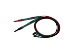 "Eclipse MT-9906 5.2"" (129mm) Test Leads, Red & Black, Insulated PVC, Needle Tip, Safety Style Sheath Right Angle Shrouded Banana Plug Multimeters"