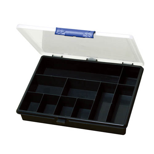 Eclipse SB-2419 Compartment Storage Box with Tight Seal and 10 Fixed Sections, for Organizing Small Parts, Screws, Nuts, Bolts, Arts, or Stationery