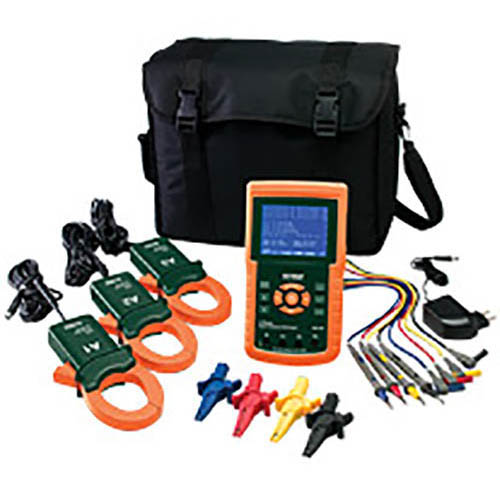Amp Electrical Data Logger : Extech a phase power analyzer datalogger at