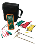 Click here for a larger image - Extech 382252 Earth Ground Resistance Tester Kit