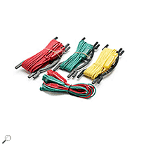 Click for larger image of the Extech 382254 Replacement Set of Test Leads for 382252, 5-Piece