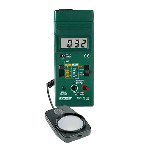 Extech 401025 Foot Candle/Lux Light Meter Analog Output & Fast/Slow