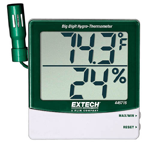 Extech 445715 Humidity Alert, 14 to 140°F, with Remote Probe Simultaneous Display
