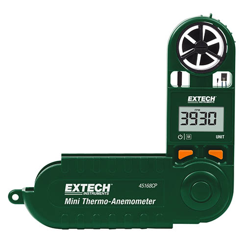 Click for larger image of the Extech 45168CP Thermo-Anemometer Mini with Built-in Compass
