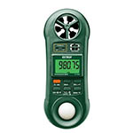 Click here for a larger image - Extech 45170CM 5-in-1 Environmental Meter: Air Velocity, Air Flow, Humidity, Temperature, and Light