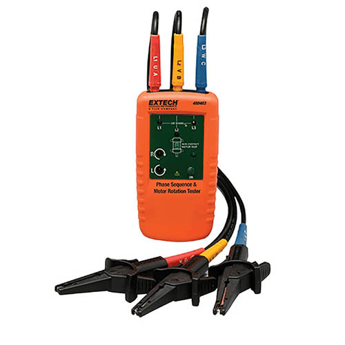 Extech 480403 Motor Rotation 3 Phase Tester Tests Phase Sequence At The Test Equipment Depot