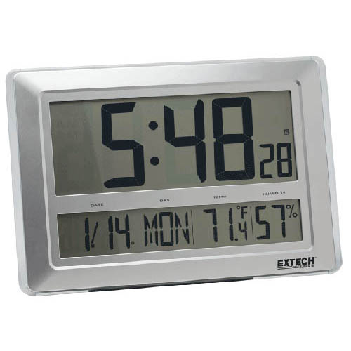 Click for larger image of the Extech CTH10A Digital Radio Clock/Hygro-Thermometer, Temp and Relative Humidity