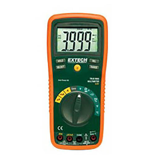 Extech EX430 True-RMS Professional Multimeter, 750VAC/1000VDC, 20A, with Infrared Thermometer