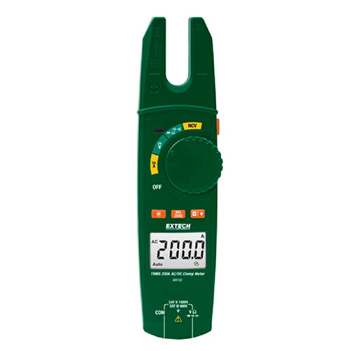 Click for larger image of the Extech MA160 200A True RMS AC/DC Open Jaw Clamp Meter with Built-In Non-Contact Voltage Detector