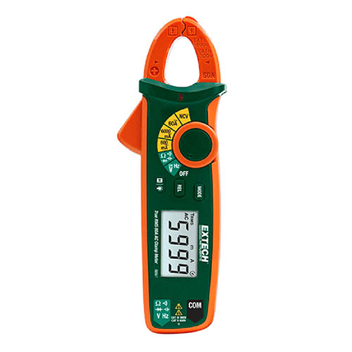 Click for larger image of the Extech MA61 60A True RMS AC Clamp Meter w/Non-Contact Voltage Detector & Variable Frequency Control