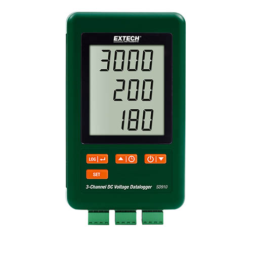 Click for larger image of the Extech SD910 3-Channel DC Voltage Datalogger