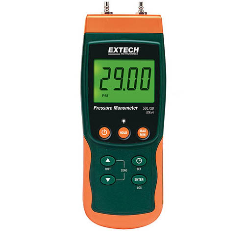 Low Pressure Data Logger : Extech sdl datalogging manometer differential pressure