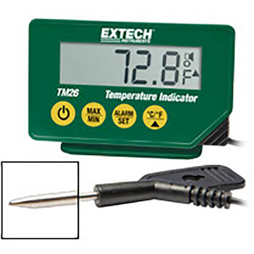 Click for larger image of the Extech TM26 NSF Waterproof Food Thermometer with Stainless Probe, -40�F to 392�F