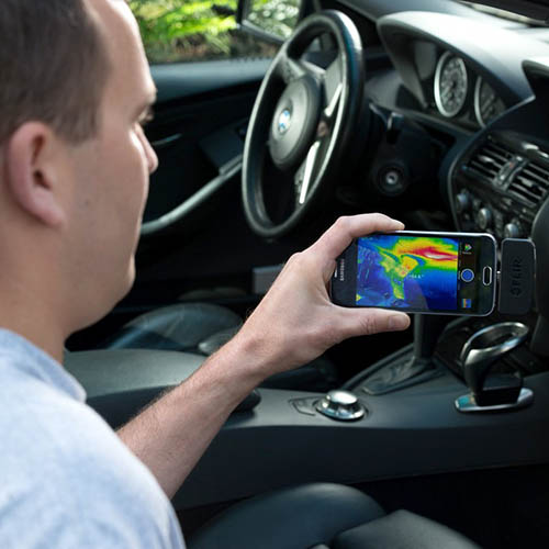 FLIR FLIR ONE ANDROID Thermal Camera Attachment for Android Devices, MSX, 80 x 60 Resolution, 9 Hz (Car Inspection)