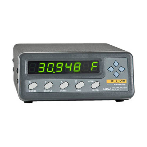 Click for larger image of the Fluke Calibration 1502A-156 Tweener Thermometer Readout for RTD, PRT, or SPRT Type Probes