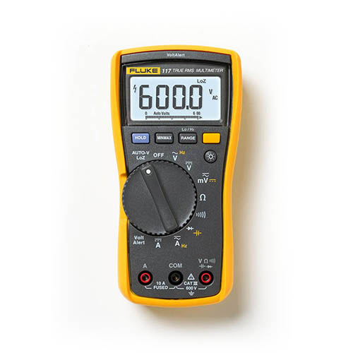 Fluke 117 True-RMS AC/DC Electrician's Multimeter with Non-Contact Voltage Detection