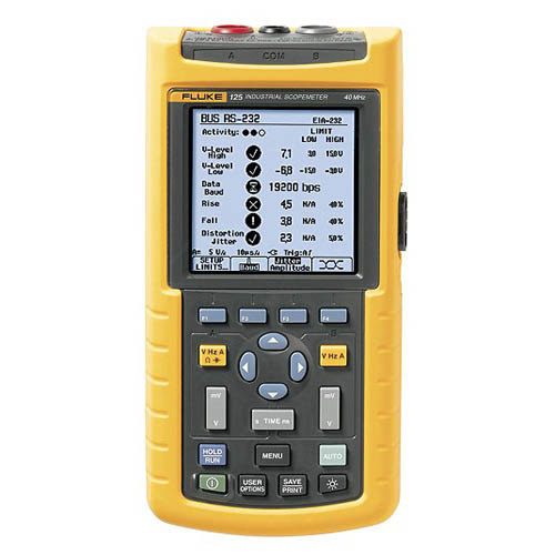 Fluke 125/003 *Factory Reconditioned* 40 MHz, 2 Ch, 25 MS/s Industrial ScopeMeter