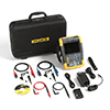 Fluke 190-102/AM/S 100 MHz, 2 Ch, 1.25 MS/s, ScopeMeter Oscilloscope with Built-in DMM & SCC-290 Kit