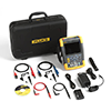 Fluke 190-202/AM/S 200 MHz, 2 Ch, 2.5 MS/s, ScopeMeter Oscilloscope with Built-in DMM & SCC-290 Kit