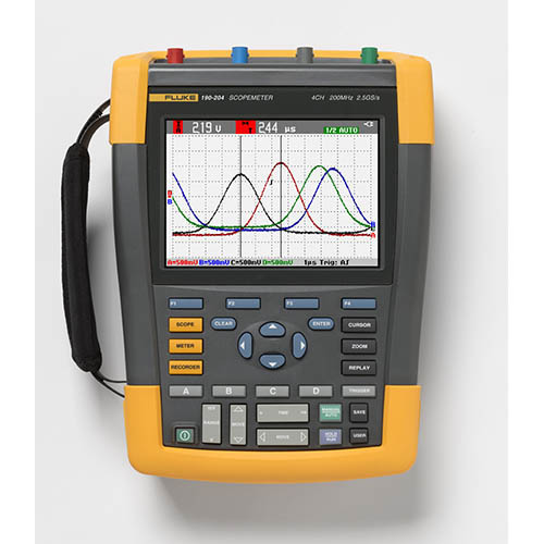 Fluke 190-204/AM *Factory Reconditioned* Scopemeter 4Ch 200 MHZ Color