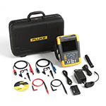 Click for larger image of the Fluke 190-502/AM/S 500 MHz, 2 Ch, 5 GS/s, ScopeMeter Oscilloscope with Built-in DMM & SCC-290 Kit