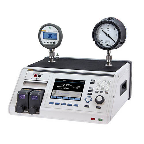 Fluke Calibration 2271A-NPT-P3K Industrial Pressure Calibrator with NPT Manifold and P3000 Test Port Connections ((Two Devices Under Test NOT INCLUDED))