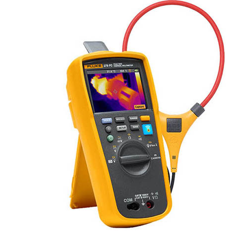 Click for larger image of the Fluke 279FCIFLEX TRMS Wireless Thermal Imaging Multimeter with iFlex Current Probe and Fluke Connect