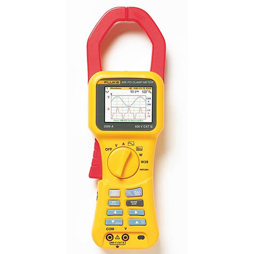 Single Phase Power Meter : Fluke single phase power quality clamp meter at the