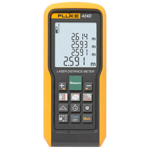 Fluke 424D *Factory Reconditioned* Laser Distance Meter - 100M/330Ft Max