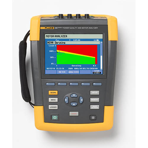 Click for larger image of the Fluke 438-II/Basic Power Quality and Motor Analyzer without Clamps and FC WiFi SD Card