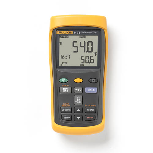 Recording Thermometers Data Logger : Fluke ii b dual input digital thermometer with data logging