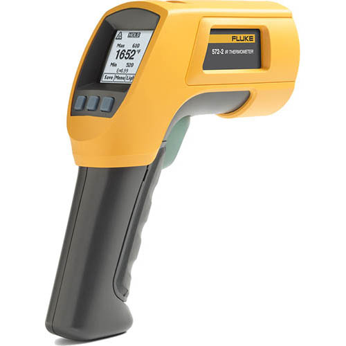 Fluke 572-2 Infrared and Contact Thermometer, -22-1652°F Range, 60:1 Ratio