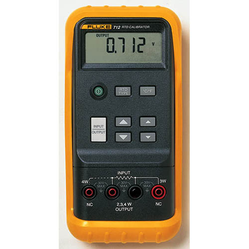 Click for larger image of the Fluke 712 RTD Calibrator