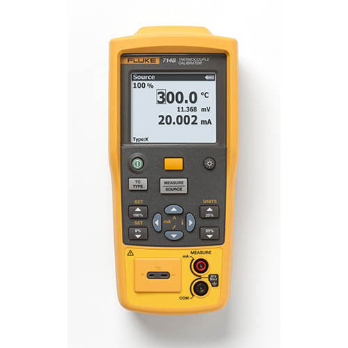Click for larger image of the Fluke 714B Temperature Calibrator with DC mA Measurement