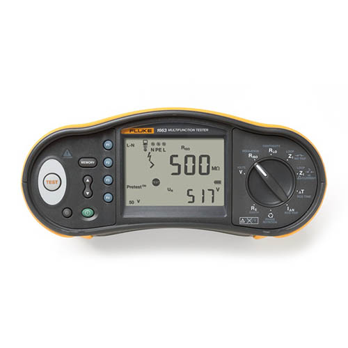 Click for larger image of the Fluke FLK-1663 SCH Multifunction Installation Tester with RCD Type B