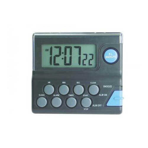 Click for larger image of the General Tools CTI278 Digital Timer & Alarm Clock with Backlight (Black)