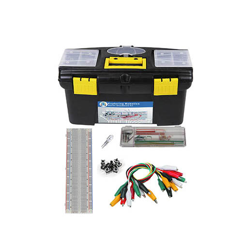 Global Specialties ARX-BBKT Starter Breadboard Kit with 12 in. Tool Box, Wire Kit, GS-830