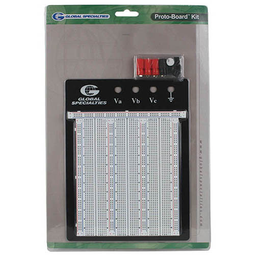 Global Specialties PB-103E Externally Powered Breadboard, 2250 Tie-points (Package)