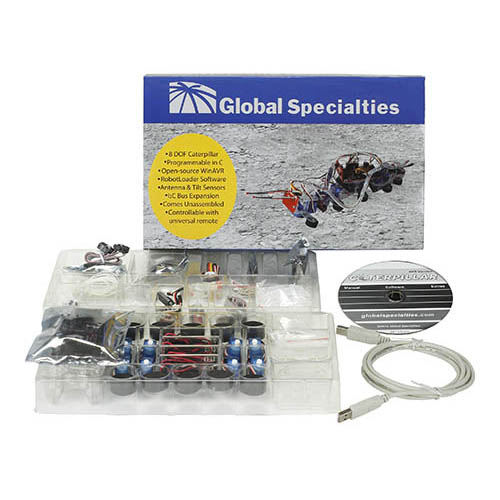 Global Specialties R500 Robotic Caterpillar Kit (Package components)