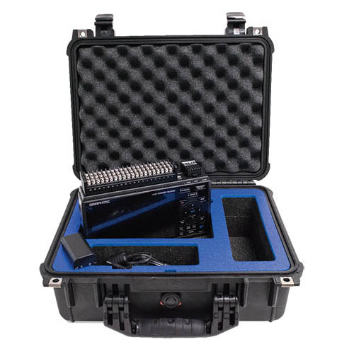Graphtec GL840-WV-PORTABLE-BUNDLE High Voalgel 20 Ch. Data Logger, Wireless Unit, Battery, and Case
