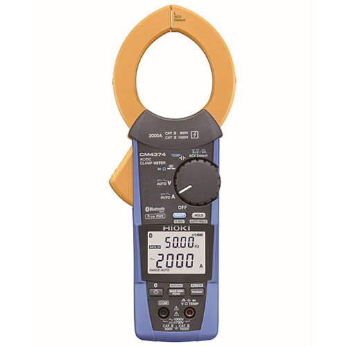 Hioki CM4374 True-RMS Clamp Meter, 1000VAC/1500VDC/2000A with Frequency, Resistance & Bluetooth